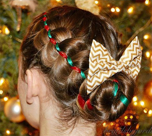 15-Christmas-Themed-Hairstyle-Ideas-For-Short-Long-Hair-2018-5