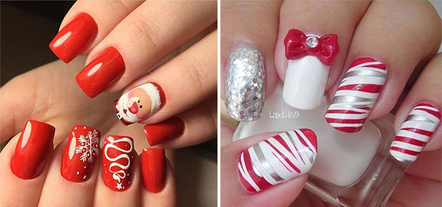 Red Ombre Nails Christmas.20 Best Christmas Nail Art Designs Ideas 2018 Xmas Nails