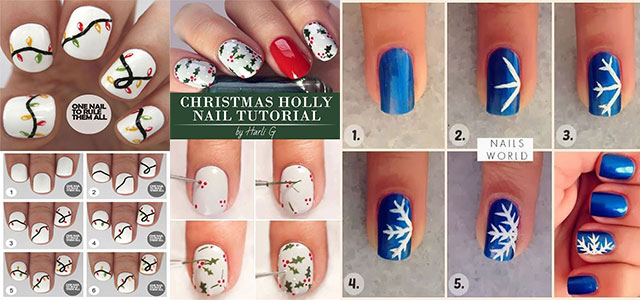 Christmas Nails Tutorials For Beginners 2018 | Modern Fashion Blog