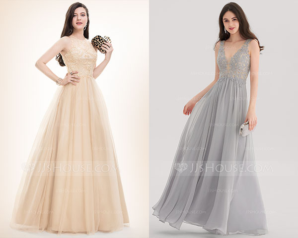 Metallic Grey Golden Prom-Dresses-2