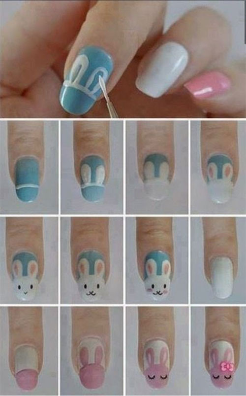 10-Step-By-Step-Easter-Nail-Art-Tutorials-For-Learners-2019-7