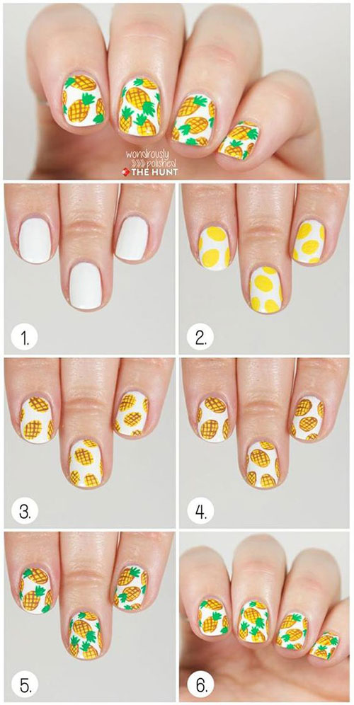 12-Step-By-Step-Summer-Nail-Art-Tutorials-For-Learners-2019-10