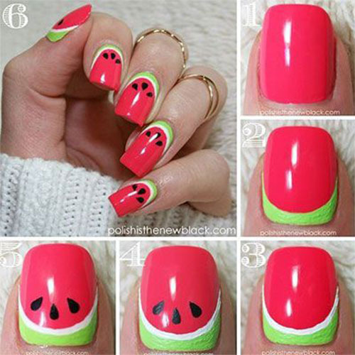 12-Step-By-Step-Summer-Nail-Art-Tutorials-For-Learners-2019-2