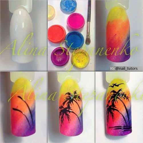 12-Step-By-Step-Summer-Nail-Art-Tutorials-For-Learners-2019-3