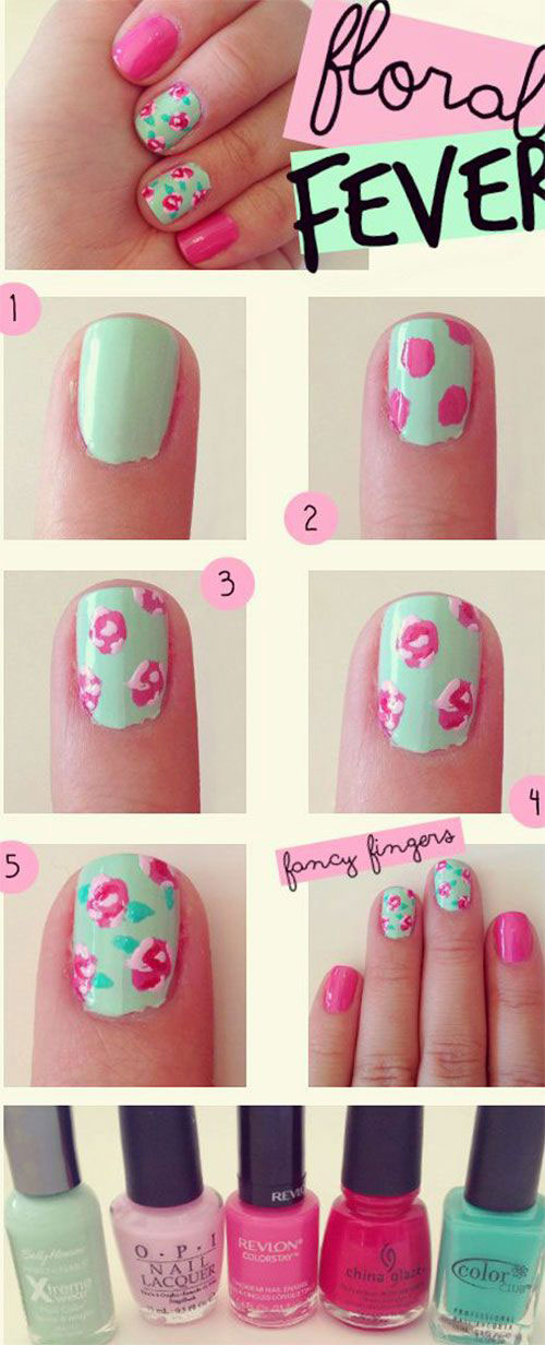 12-Step-By-Step-Summer-Nail-Art-Tutorials-For-Learners-2019-6