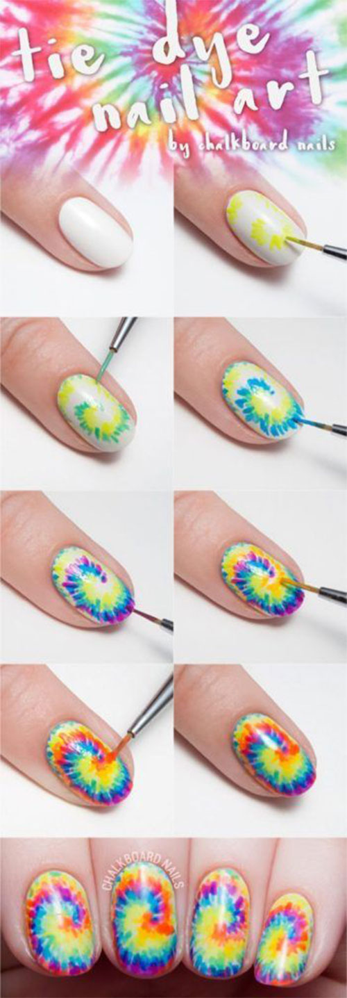 12-Step-By-Step-Summer-Nail-Art-Tutorials-For-Learners-2019-8