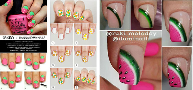 12-Step-By-Step-Summer-Nail-Art-Tutorials-For-Learners-2019-F