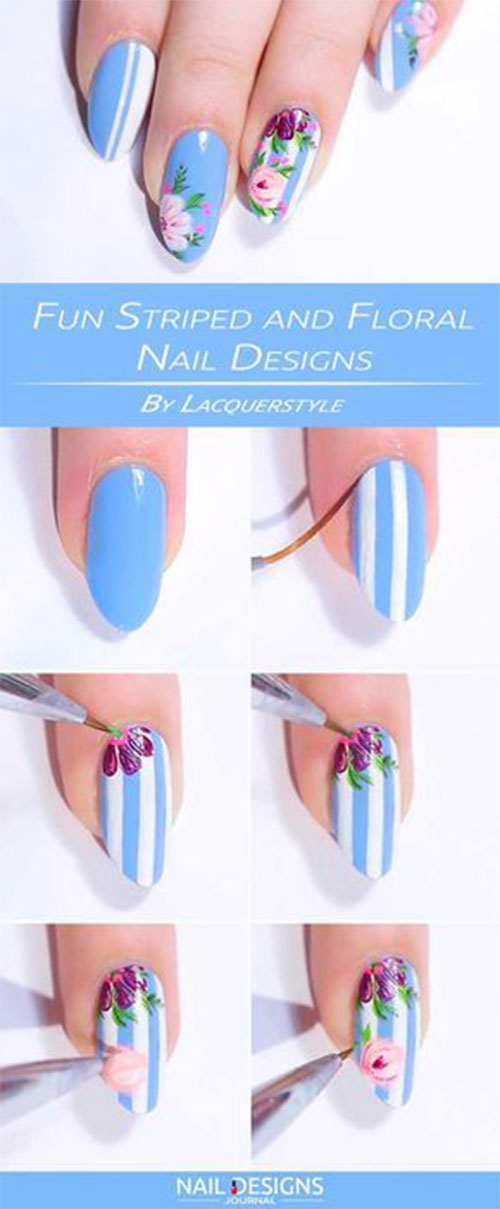 15-Step-By-Step-Spring-Floral-Nail-Art-Tutorials-For-Learners-2019-13