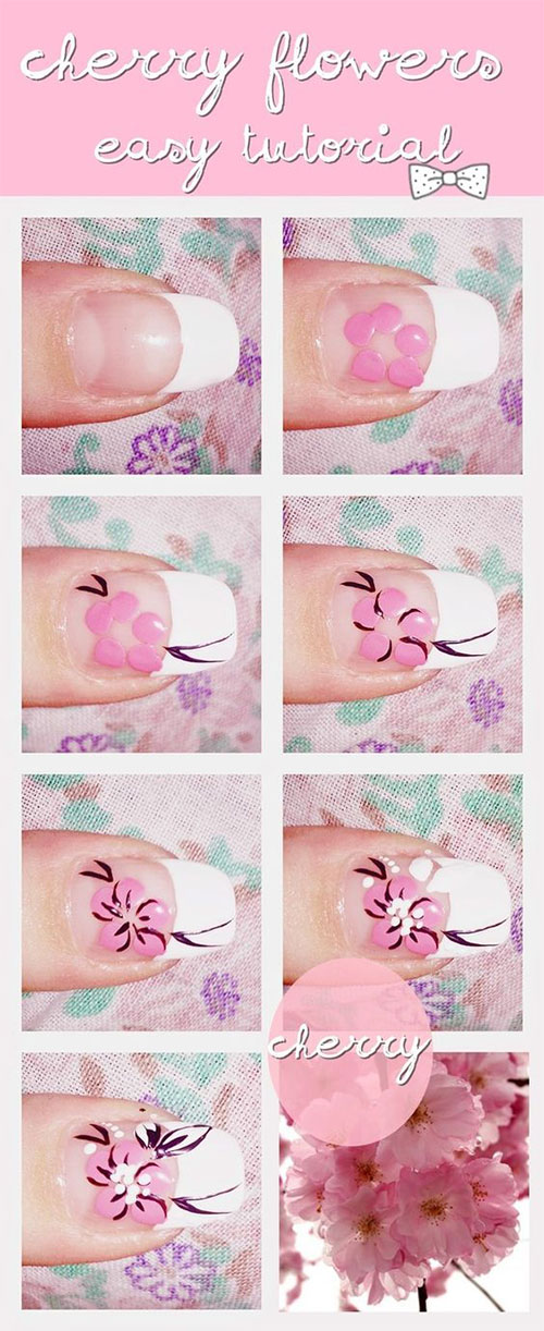 15-Step-By-Step-Spring-Floral-Nail-Art-Tutorials-For-Learners-2019-14