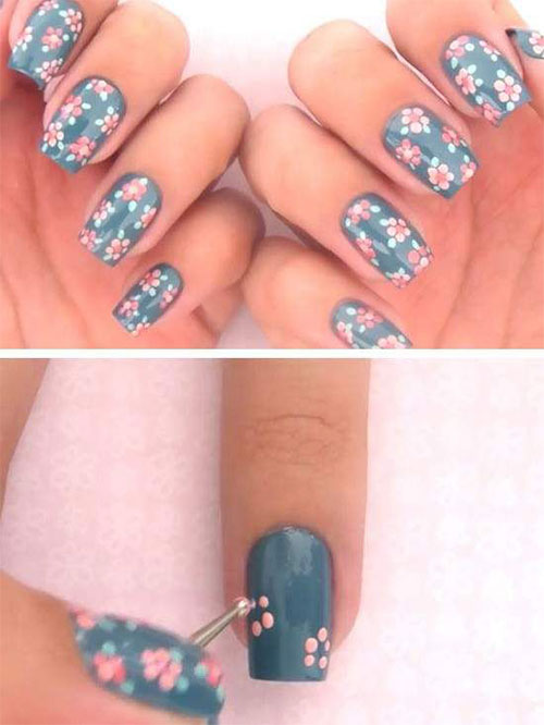 15-Step-By-Step-Spring-Floral-Nail-Art-Tutorials-For-Learners-2019-15