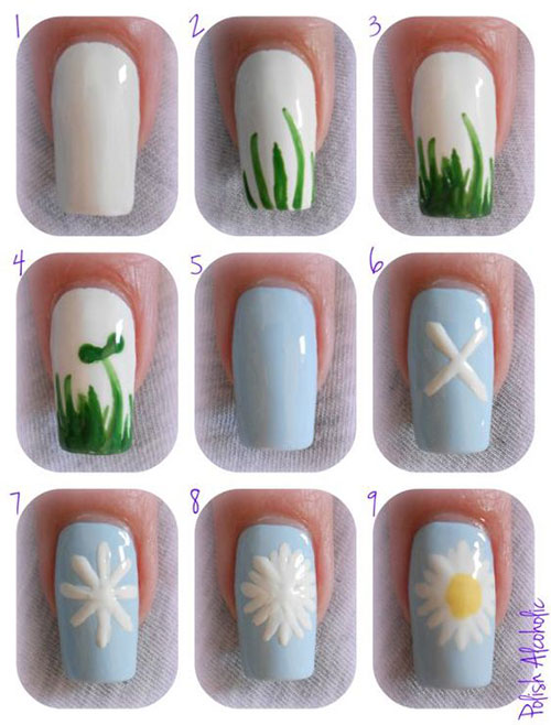 15-Step-By-Step-Spring-Floral-Nail-Art-Tutorials-For-Learners-2019-2