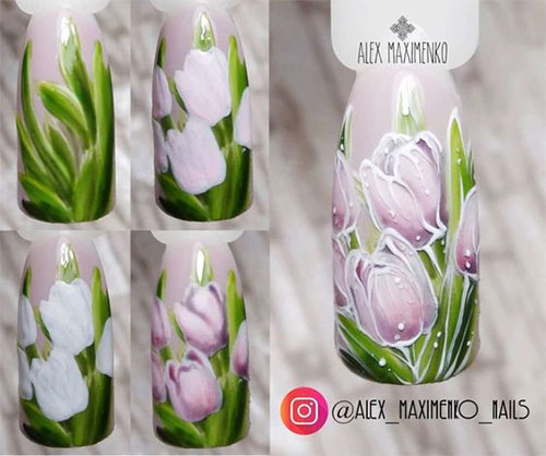 15-Step-By-Step-Spring-Floral-Nail-Art-Tutorials-For-Learners-2019-6