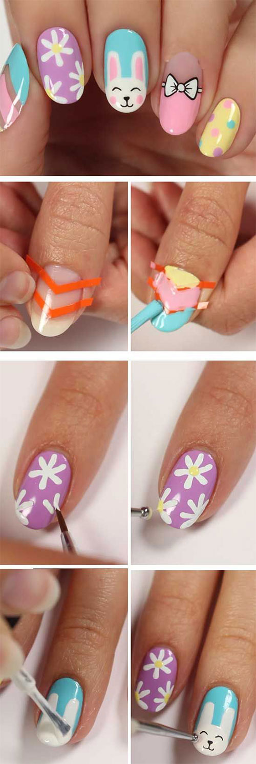 15-Step-By-Step-Spring-Floral-Nail-Art-Tutorials-For-Learners-2019-7