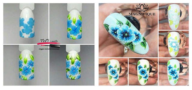 15-Step-By-Step-Spring-Floral-Nail-Art-Tutorials-For-Learners-2019-F