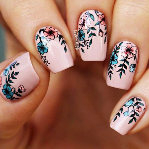 20-Floral-Nail-Art-Designs-Ideas-2019-Spring-Nails-1