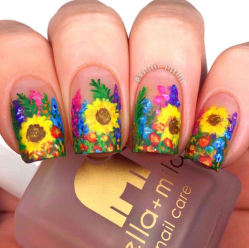 20-Floral-Nail-Art-Designs-Ideas-2019-Spring-Nails-11