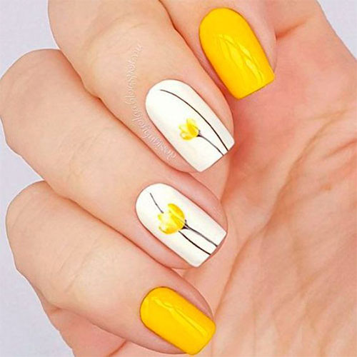 Easy Floral Nail Art Designs Attractive Nail Design