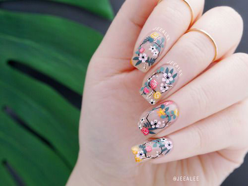 20-Floral-Nail-Art-Designs-Ideas-2019-Spring-Nails-18