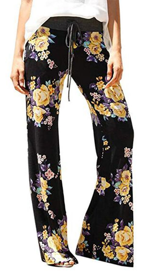 Floral-Print-Pants-For-Girls-Women-2019-Spring-Fashion-2