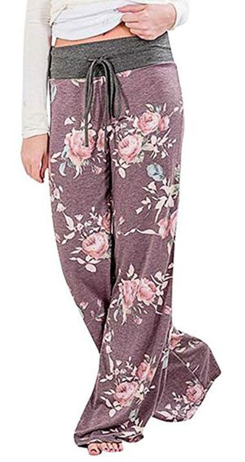 Floral-Print-Pants-For-Girls-Women-2019-Spring-Fashion-3