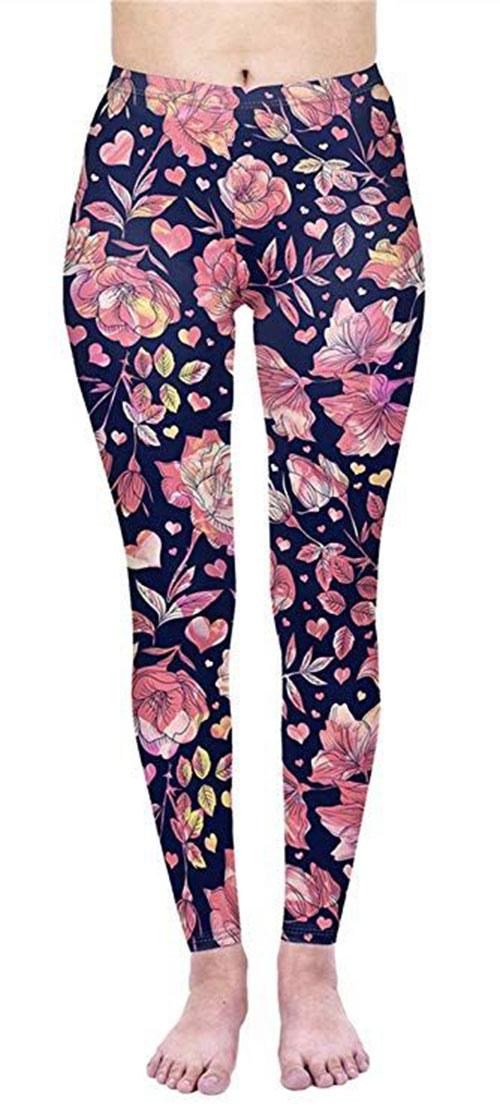 Floral-Print-Pants-For-Girls-Women-2019-Spring-Fashion-5