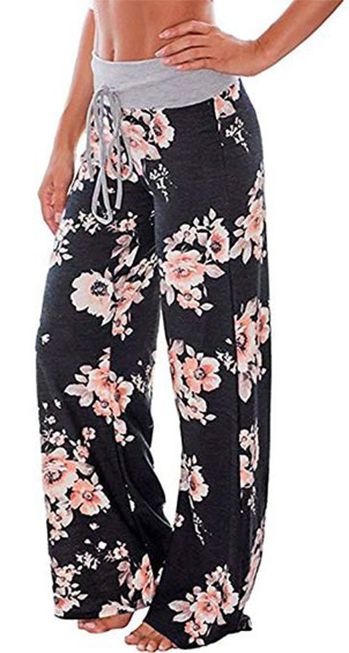 Floral-Print-Pants-For-Girls-Women-2019-Spring-Fashion-7