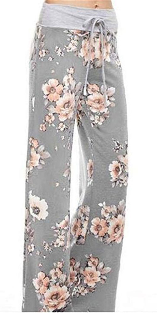 Floral-Print-Pants-For-Girls-Women-2019-Spring-Fashion-9