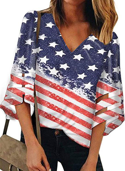 Best-4th-of-July-T-Shirts-For-Women-2019-Patriotic-Outfits-7