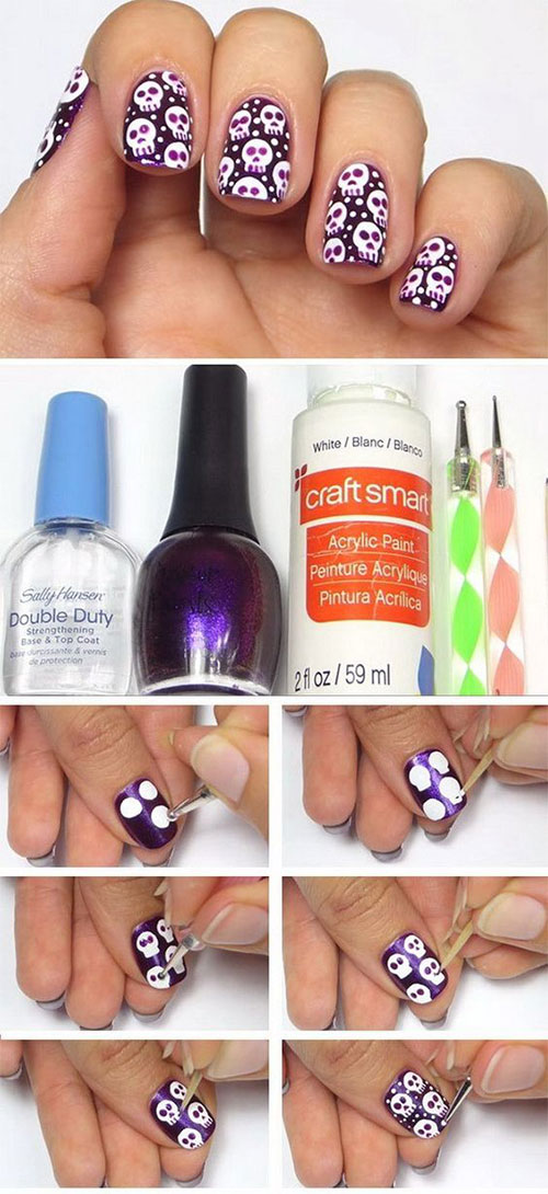Halloween-Nails-Art-Tutorials-For-Beginners-2019-4
