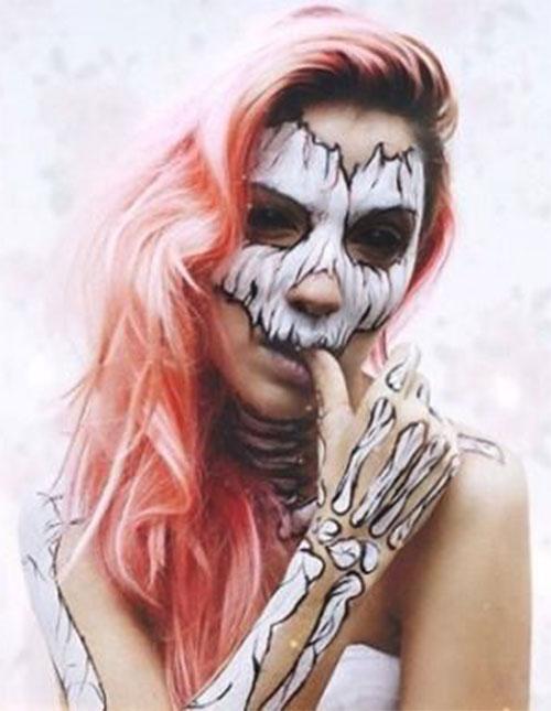 18-Halloween-Skull-Makeup-Looks-For-Girls-Women-2019-11