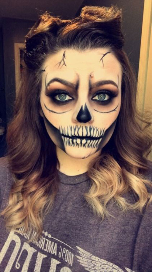 18-Halloween-Skull-Makeup-Looks-For-Girls-Women-2019-12