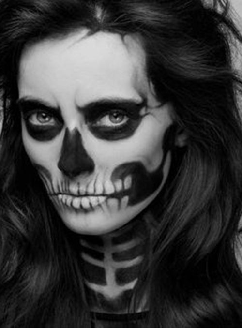18-Halloween-Skull-Makeup-Looks-For-Girls-Women-2019-14