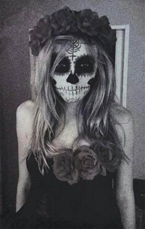 18-Halloween-Skull-Makeup-Looks-For-Girls-Women-2019-15