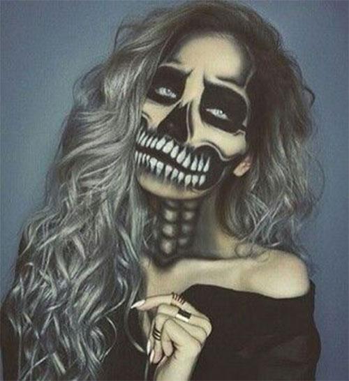 18-Halloween-Skull-Makeup-Looks-For-Girls-Women-2019-17