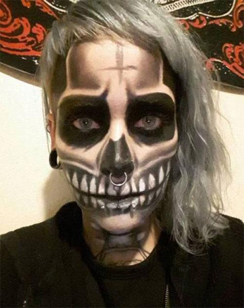 18-Halloween-Skull-Makeup-Looks-For-Girls-Women-2019-2