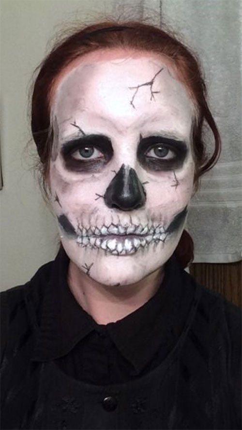 18-Halloween-Skull-Makeup-Looks-For-Girls-Women-2019-4