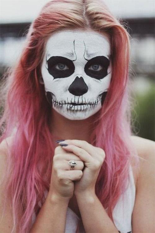 18-Halloween-Skull-Makeup-Looks-For-Girls-Women-2019-6