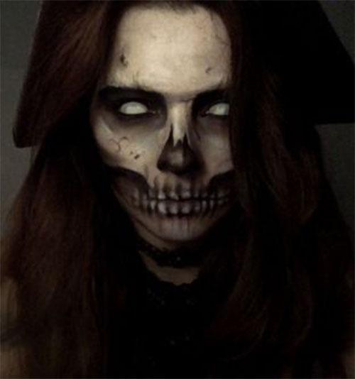 18-Halloween-Skull-Makeup-Looks-For-Girls-Women-2019-8