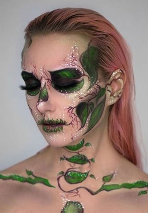 18-Halloween-Skull-Makeup-Looks-For-Girls-Women-2019-9