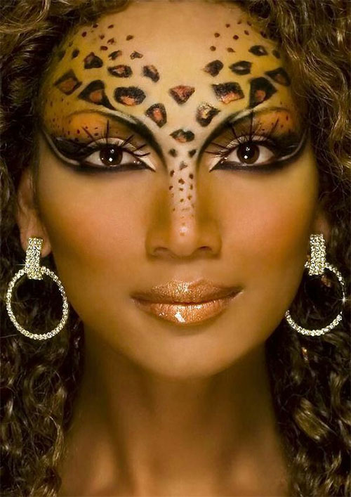 Cute-leopard-Halloween-Makeup-Ideas-For-Girls-Women-2019-1