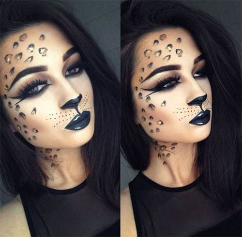 Cute-leopard-Halloween-Makeup-Ideas-For-Girls-Women-2019-15