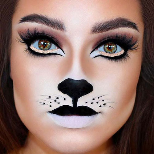 Cute-leopard-Halloween-Makeup-Ideas-For-Girls-Women-2019-6