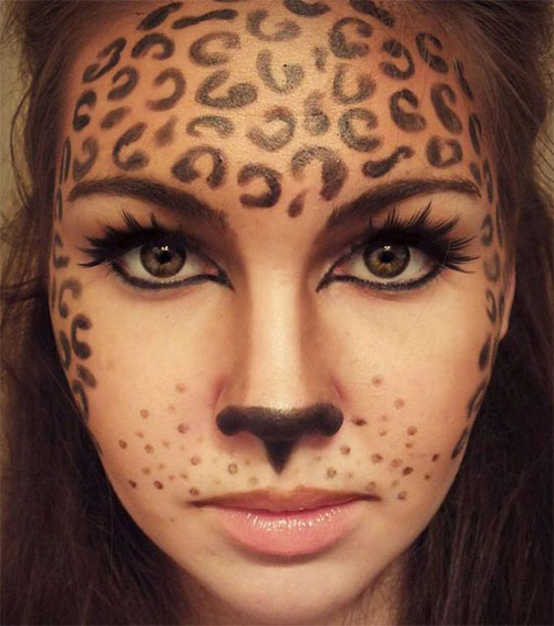 Cute-leopard-Halloween-Makeup-Ideas-For-Girls-Women-2019-7
