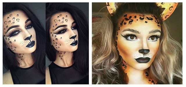 Cute Leopard Halloween Makeup Ideas For Girls \u0026 Women 2019