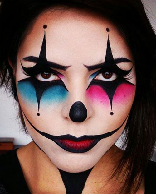 Halloween-Clown-Makeup-Looks-Ideas-For-Girls-Women-2019-1