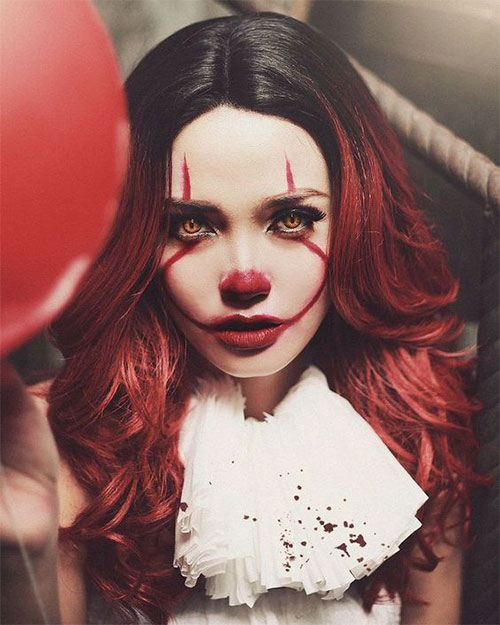 Halloween-Clown-Makeup-Looks-Ideas-For-Girls-Women-2019-10
