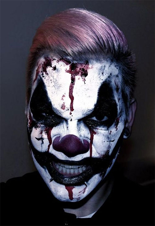 Halloween-Clown-Makeup-Looks-Ideas-For-Girls-Women-2019-16