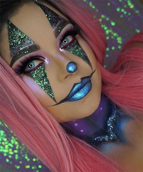 Halloween-Clown-Makeup-Looks-Ideas-For-Girls-Women-2019-18
