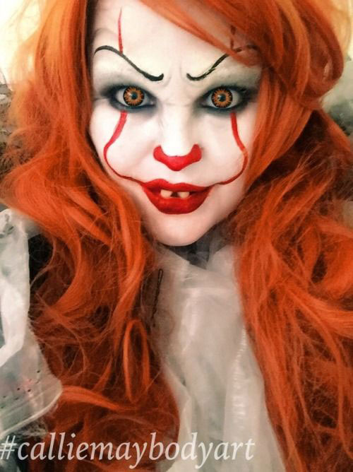 Halloween-Clown-Makeup-Looks-Ideas-For-Girls-Women-2019-3