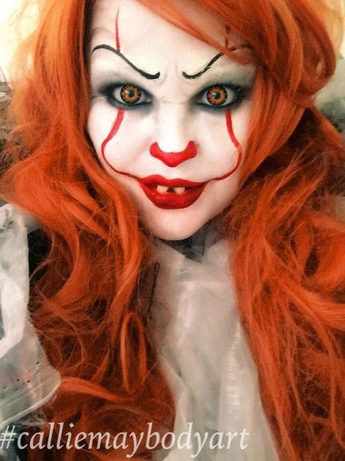 Halloween-Clown-Makeup-Looks-Ideas-For-Girls-Women-2019-3